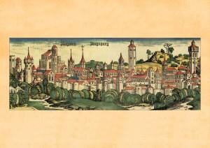 Augsburg1490. Kolorierter Stich 1493. [162895]