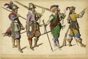 Französische Pikeniere u. Musketiere