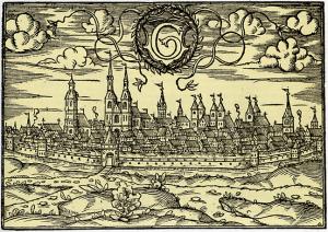 Goettingen_-_Ansicht_der_Stadt_von_Westen_(1585)