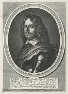 H.C. von Königsmarck / Kupferstich 1651