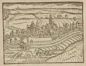 Schweinfurt mit Weinbergen, Abraham Saur 1610