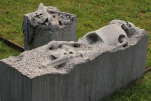 Skelett eines schwedischen Reitersoldaten