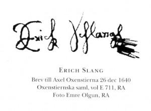 Slang-Unterschrift