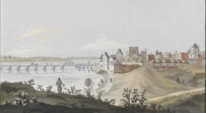 Ansicht der Stadt Thorn nebst ein Theil der Weichsel Brücke aufgenommen von der Brücken Kempe No. 2